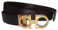 Salvatore Ferragamo Salvatore Ferragamo Reversible Double Leather Belt