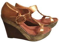 Sam Edelman Gold Hardware Sandal Suede Brown & bronze Wedges