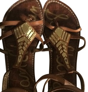 Sam Edelman Tan, Gold Sandals