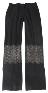 Sandro Black F36 Sheer Ne Pants