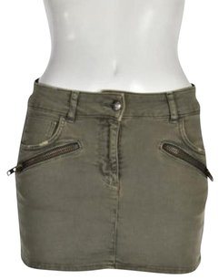 Sandro Mini Skirt Army Green