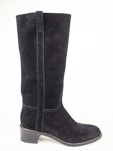 Sartore Classic Noir Suede Knee High Riding Eu Black Boots
