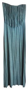 Turquoise Maxi Dress by Say What? Strapless Fringe Maxi Summer