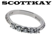 Scott Kay 50 Carat Diamond Wedding Band In 19k White Gold