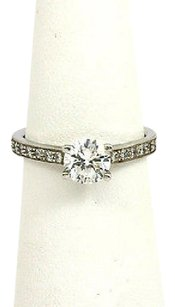 Scott Kay Scott Kay Platinum Mounting W48 Pts Diamonds Accent Engagement Solitaire Ring