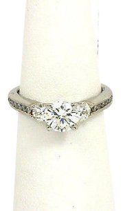Scott Kay Scott Kay Platinum Diamond Accent Mounting Engagement Solitaire Ring