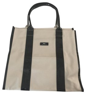 Scout Beach Tote in Black/Cream