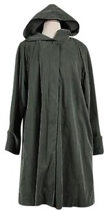 Searle Womens Solid Long Sleeve Trench Trench Coat