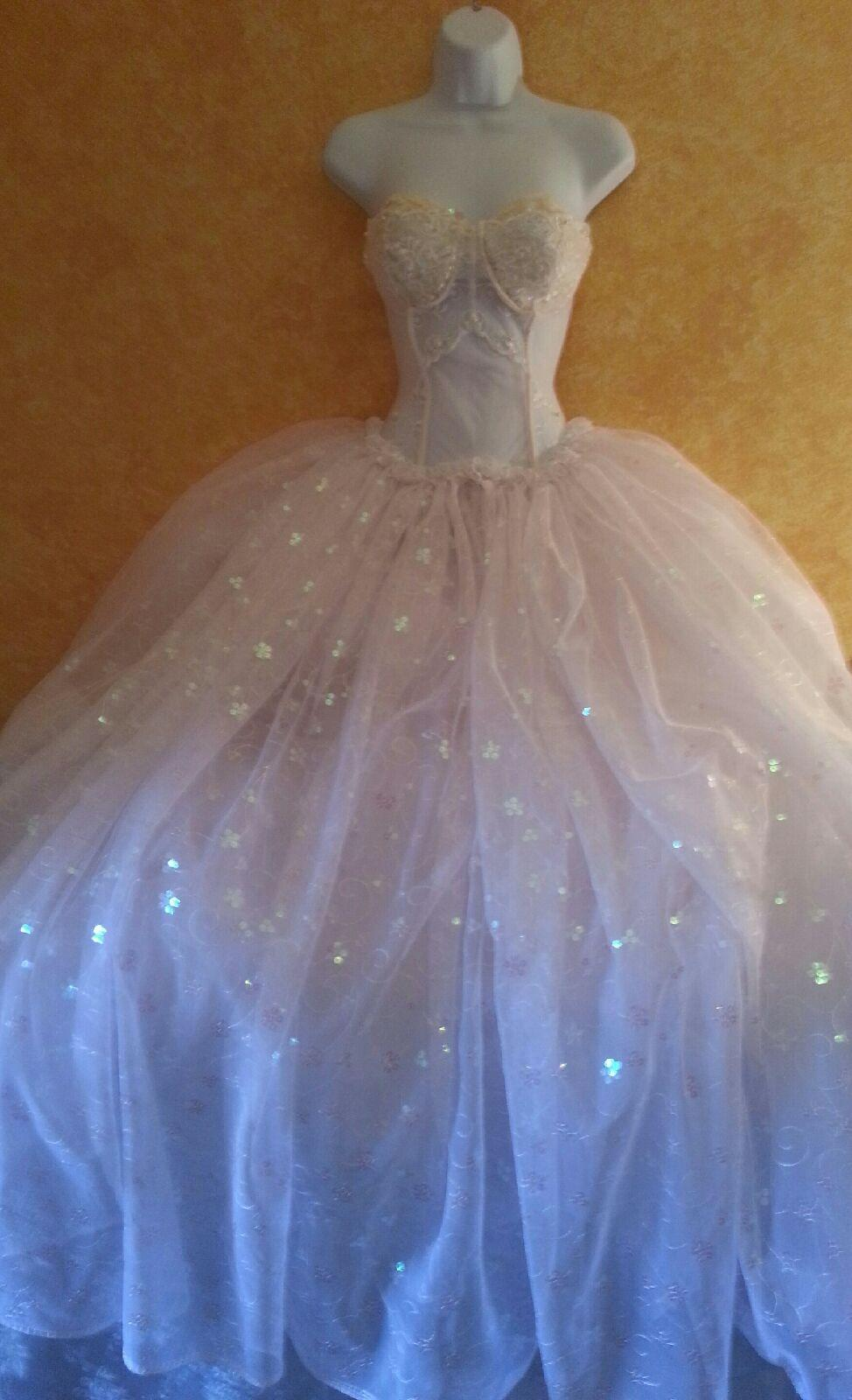 Iridescent White Goddess Ballgown Wedding Dress 25 Off