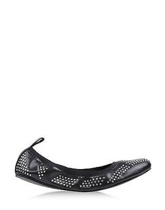 See by Chloé Chloe Studded Black Flats