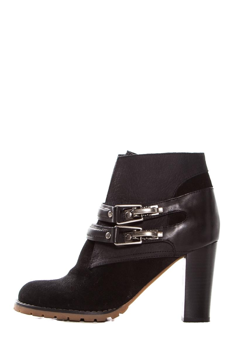 tumblr cheap online See by Chloé Leather Round-Toe Boots cheap discounts rePNOk5CW