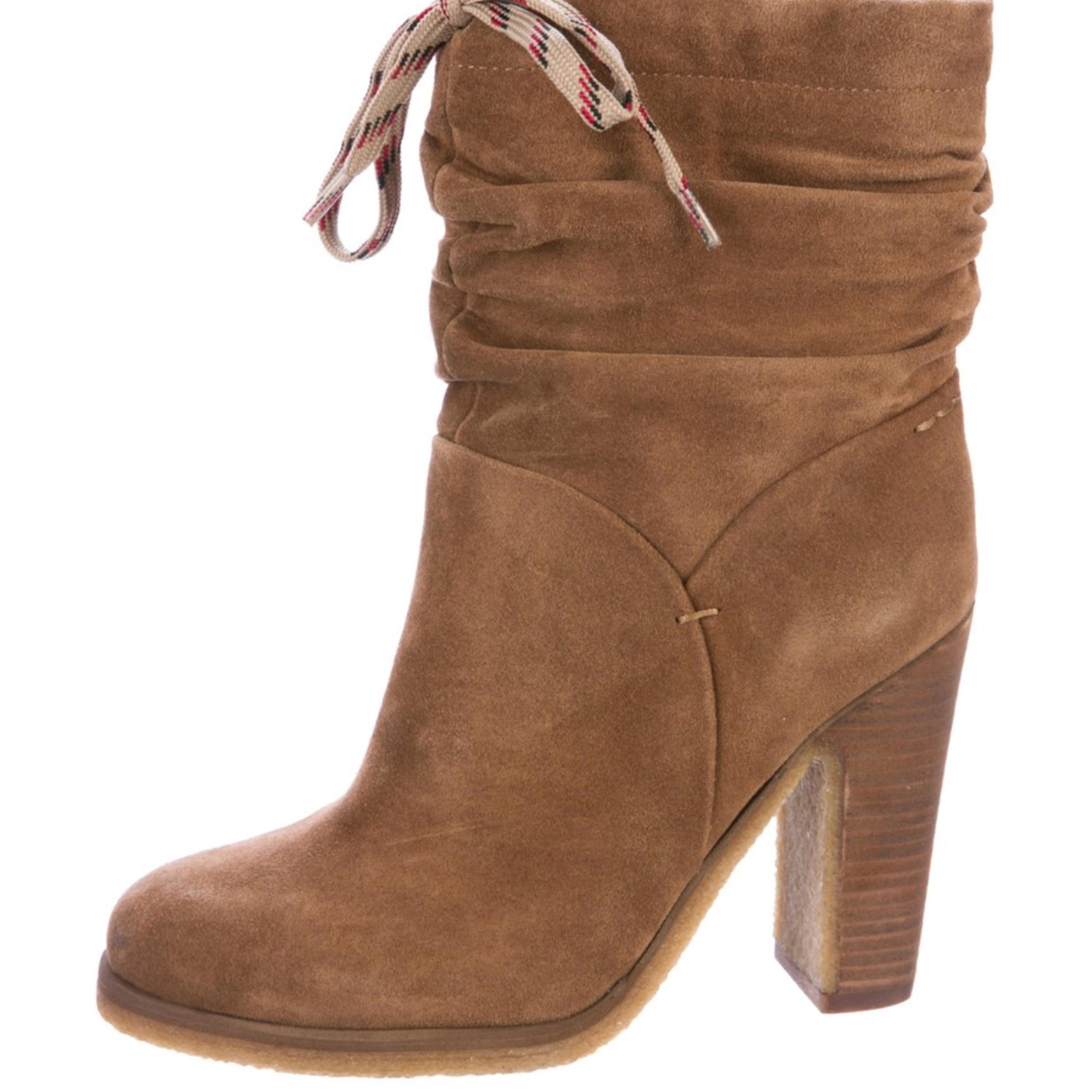 d0177fa9960 See by Chloé Camel Camel Camel Slouchy Ankle Boots Booties Size US 6  Regular (M