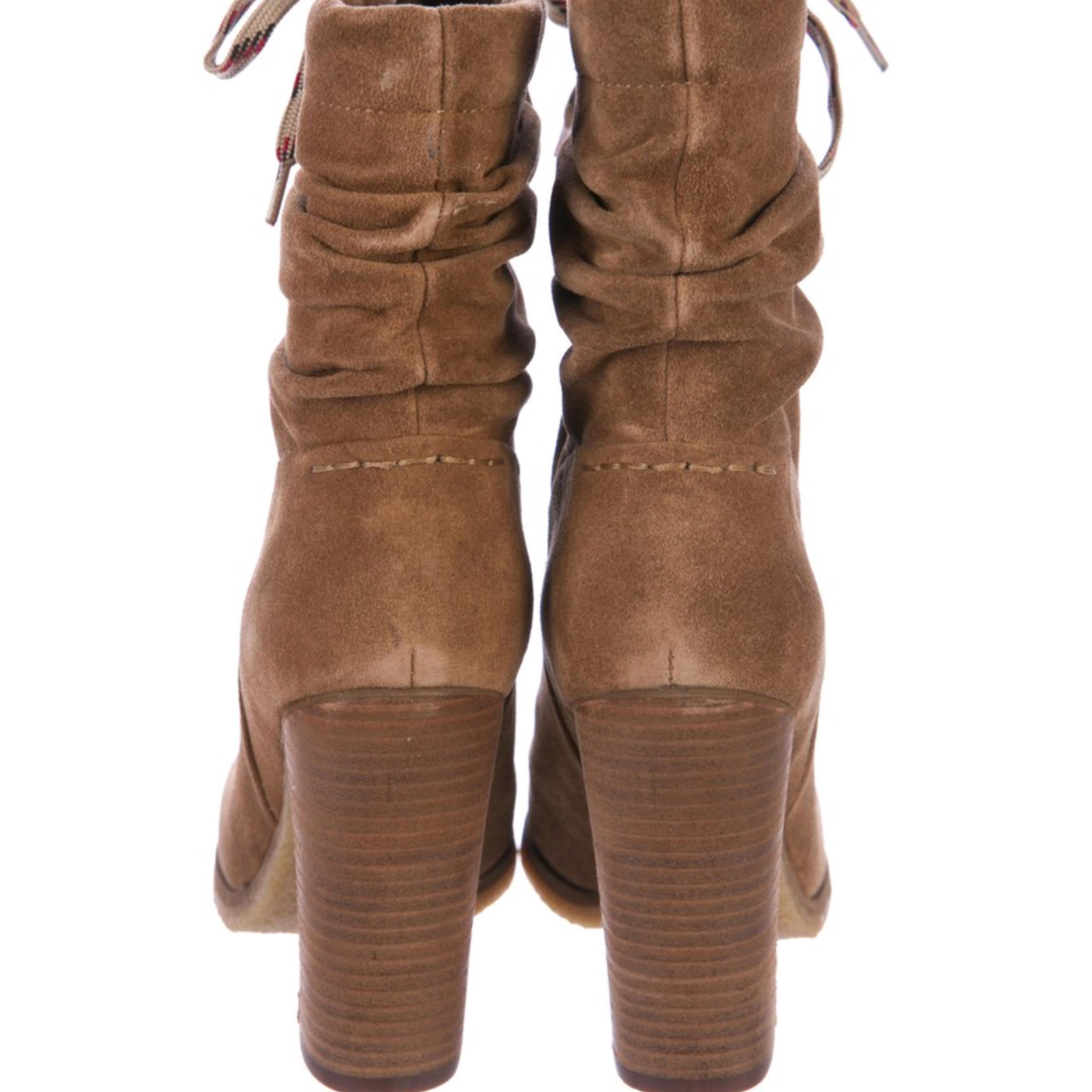 c25d15296c6 ... See by Chloé Camel Camel Camel Slouchy Ankle Boots Booties Size US 6  Regular ...