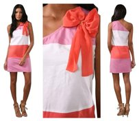 See by Chloé short dress White Coral Pink on Tradesy