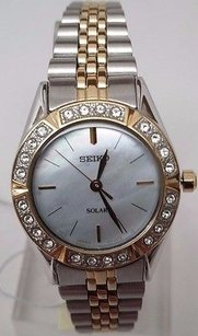 Seiko Seiko Dress Solar Mop Two-tone Womens Watch Sup094 Broken Watch Doesnt Work