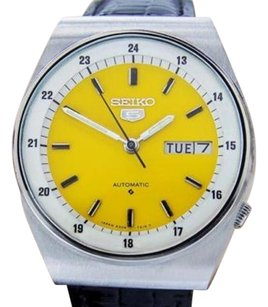 Seiko Seiko Vintage Mens Yellow Dial Automatic Made In Japan Watch Scx430