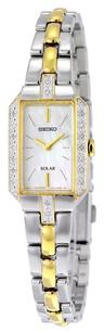 Seiko Solar Mother of Pearl Dial Two-tone Ladies Watch