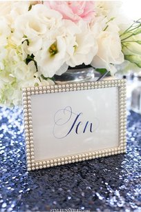 Set Of 10 Pearl Frames 5x7 Photo Frames Picture Table Numbers Gatsby Pearls Wedding