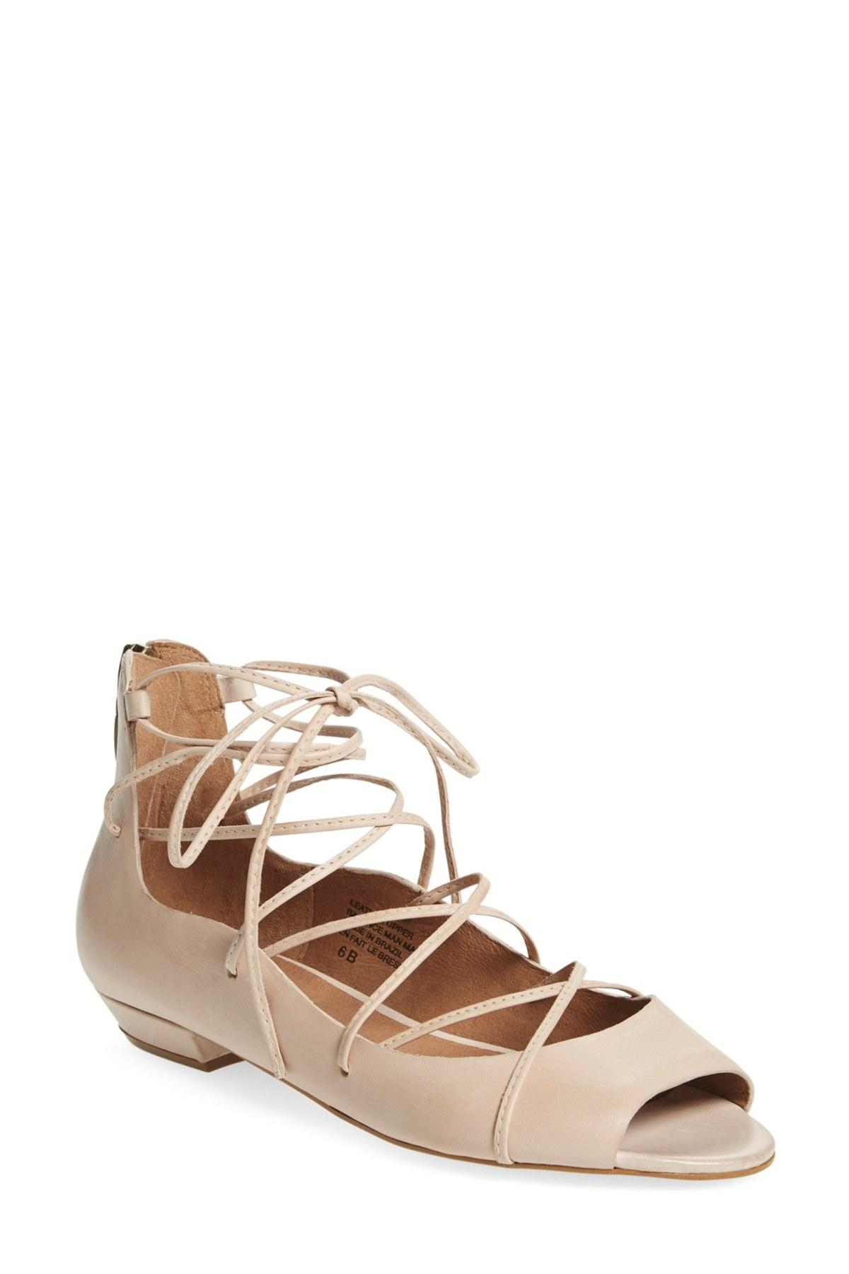 Seychelles Nude Leather Flats