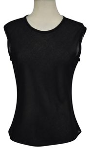 Shin Choi For Bergdorf Goodman Womens Sheer Casual Shirt Top Black