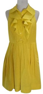 Shoshanna short dress Yellow Cotton Silk Lining on Tradesy