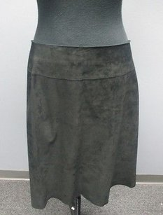 Siena Studio Leather Lined Zip Casual Pencil Sm4021 Skirt Black