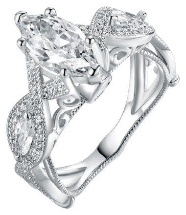 Preload https://item3.tradesy.com/images/silver-18k-white-gold-plated-marquise-cut-cubic-zirconia-engagement-ring-21563077-0-2.jpg?width=440&height=440