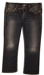Silver Jeans Co. Capri/Cropped Denim-Medium Wash