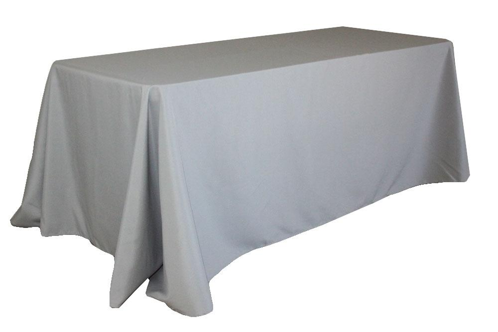 Silver/Gray 2 Silver/Gray Polyester (60 X 102) Tablecloth