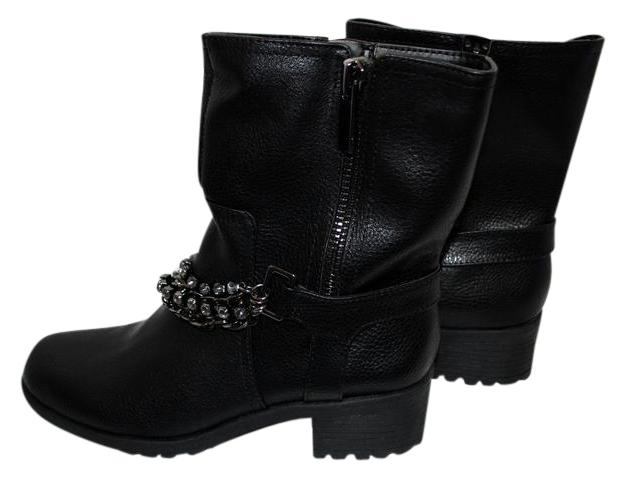 368bd5fb7986 Simply vera wang black new biker with chains boots booties jpg 720x549 Simply  vera boots