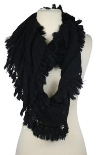 Simply Vera Vera Wang Simply Vera By Vera Wang Womens Black Cable Knit Infinity Scarf One