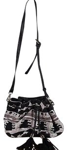 Sole Society Womens Black Cross Body Bag
