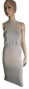 Solemio short dress Grey on Tradesy