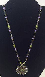 Sorrelli Sorrelli Purple Green Yellow Crystal Necklace 18 With Pendent