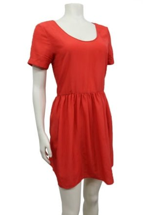 Sparkle & Fade Sparkle Fade Red Orange Baby Doll Dress Short Sleeve Urban Outfitters best