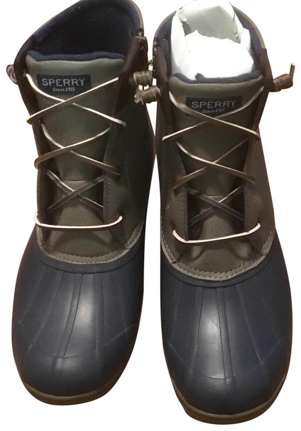 Sperry Gray & Brown Syren Gulf Boots/Booties (M, Size US 10 Regular (M, Boots/Booties B) baebbd