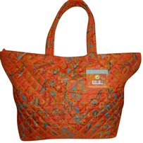 Spring Flare Nwt Lined X-lg Tote in Orange and Multiple