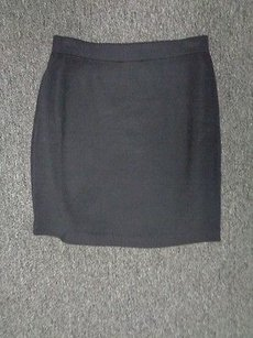 St. John Collection Santana Knit Wool Sma9663 Skirt Black