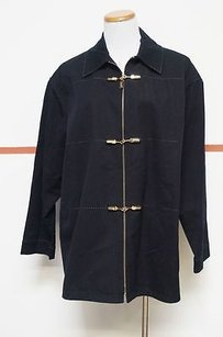St. John Sport Cotton Long Coat