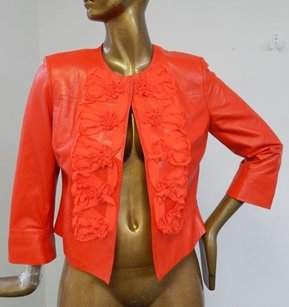 St. John St Soca Lamb Leather Red Jacket
