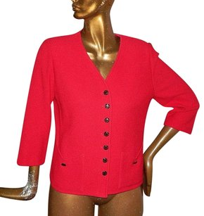 St. John St Collection Knit Red Jacket