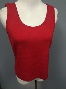 St. John St Sleeveless True Top Red