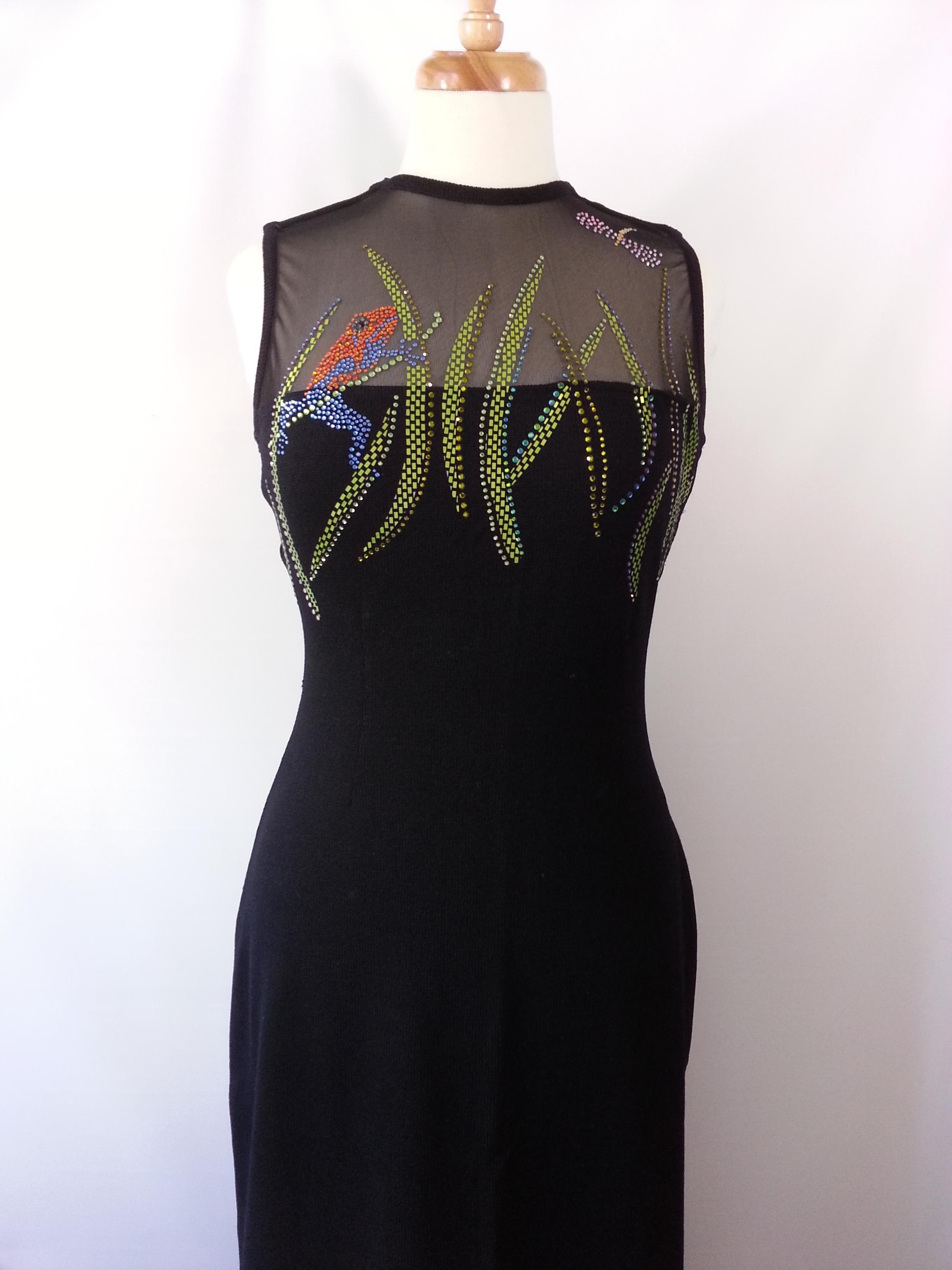 St. John Black With Multi-Color Pailettes Sale!!! Couture Frog ...