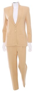 St. John ESSENTIALS GOLD CARDIGAN SWEATER 2 PIECE PANT SUIT Size 02