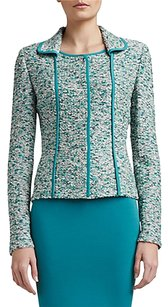 St. John Plus-size Tweed Green Blazer