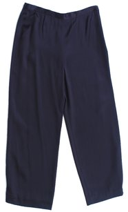 St. John Knit Classic Trouser Pants Blue Black