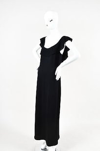Black Maxi Dress by St. John Evening Knit