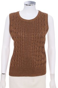 St. John Metallic Sleeveless Sweater