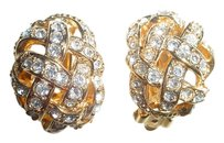 St. John St John rhinestone earrings
