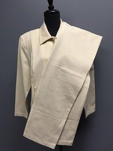 St. John St. John Sport Vanilla Cotton Button Down Jacket Straight Pants Suit L10 1861a